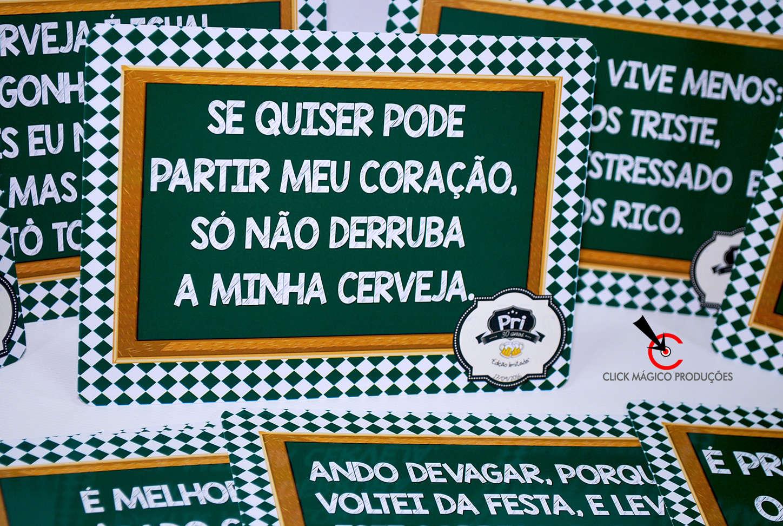 Armário Para Cozinha Em Inglês ~ Plaquinhas com frases divertidas Boteco e chá bar Verde e branco
