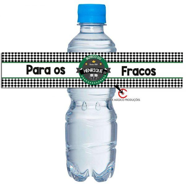 Rotulo-personalizado-para-agua-chá-bar-verde-e-branco