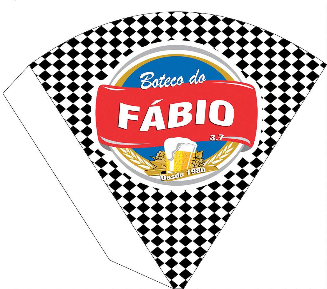a98275fad314d Cone personalizado Chá Bar e Boteco Brahma logo Azul