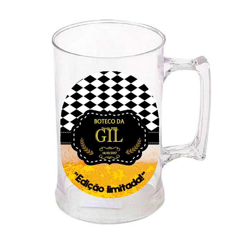 Artesanato Em Cobre Formiga Mg ~ Adesivo em Vinil para Caneca de Chopp Boteco Amarelo e preto 1 Click Mágico Produções