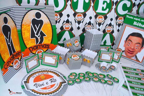decoração-festa-boteco-verde-e-laranja