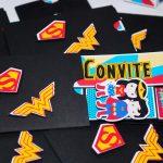 convite-infantil-mulher-maravilha-super-man