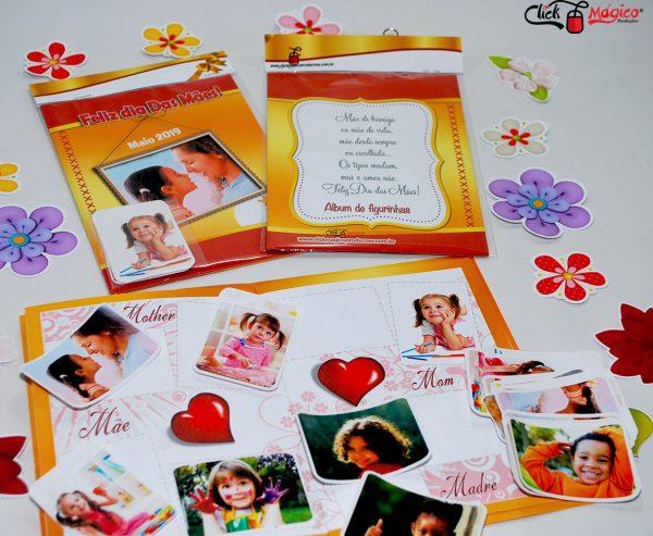 album de figurinha Dia das mães