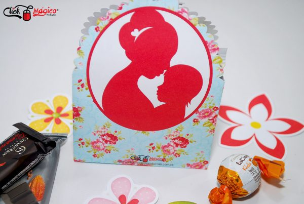 sacolinha para chocolate Dia das mães