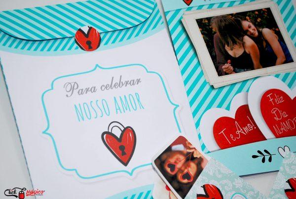 album com envelope Dia dos Namorados
