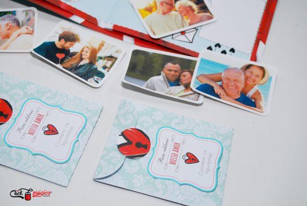 album de figurinhas com fotos Dia dos Namorados