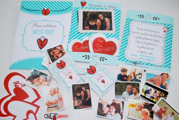 album personalizado com fotos Dia dos Namorados