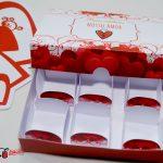 caixinha para trufas Dia dos Namorados