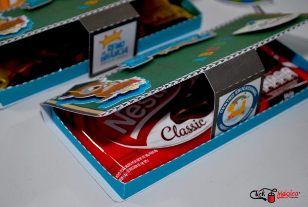 barra de chocolates Dia dos professores