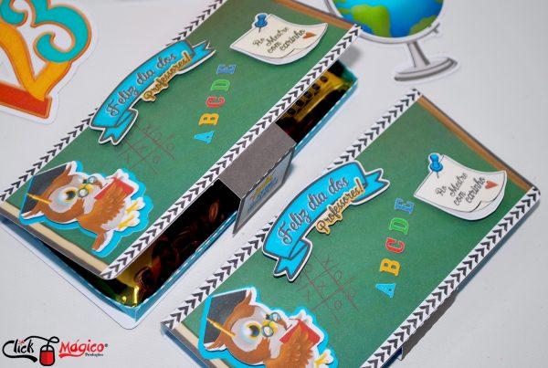 caixa para chocolate grande Dia dos professores