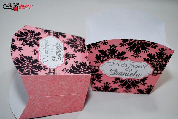 caixinha de papel para batatas chá de lingerie
