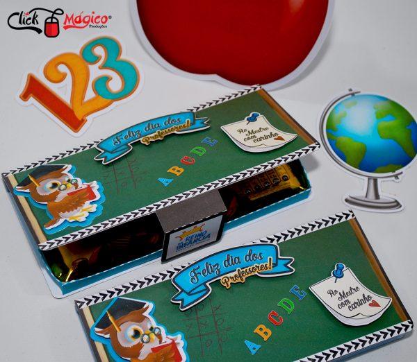 caixinha para chocolate Dia dos professores