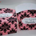 chá de lingerie preto e rosa
