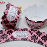 chá de lingerie rosa e preto