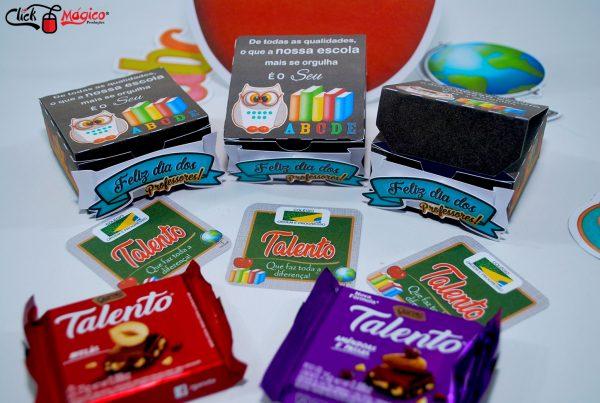 chocolate personalizado Dia dos professores