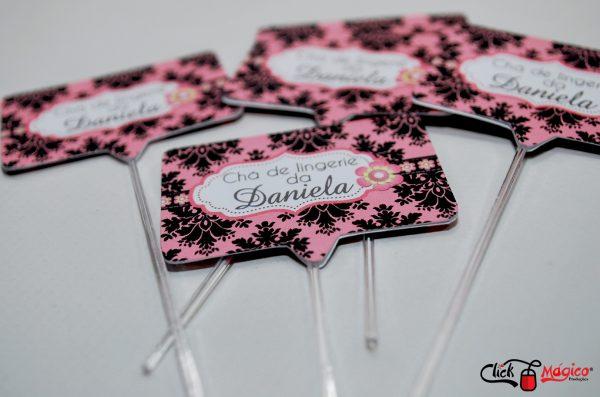 decoração preto e rosa chá de lingerie