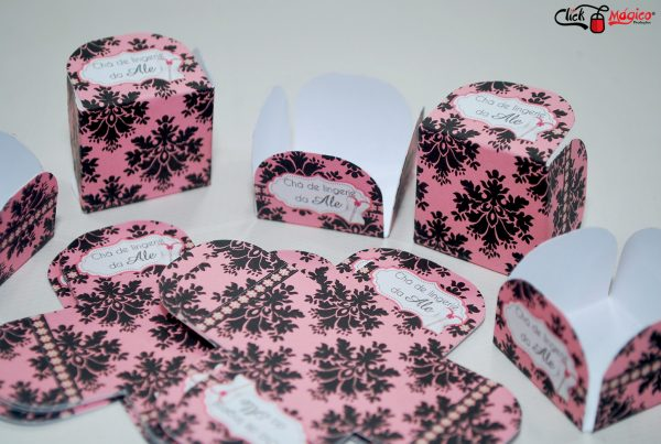 forminhas de papel chá de lingerie