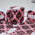 forminhas preto e rosa arabesco chá de lingerie