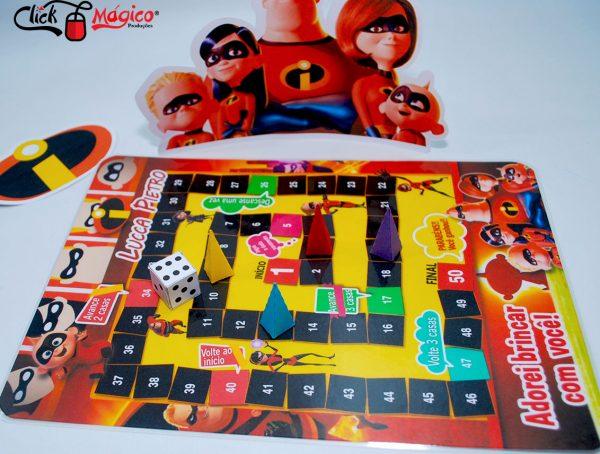 jogo de tabuleiro Os incriveis