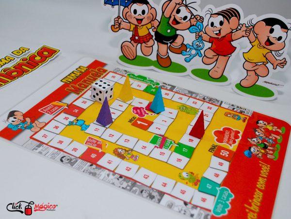 jogo de tabuleiro personalizado turma da monica
