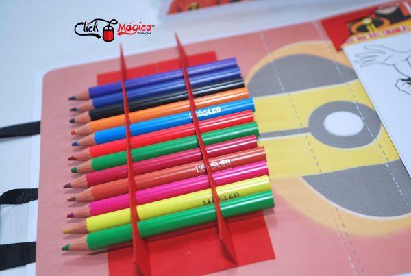 kit de colorir os incríveis