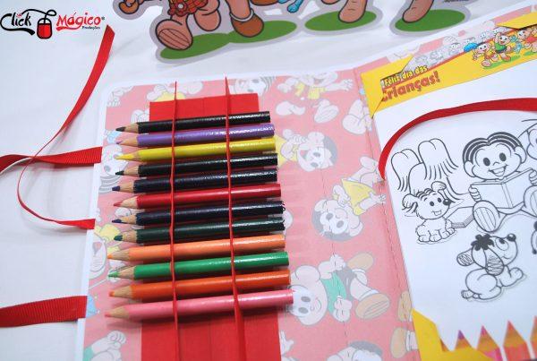 kit de colorir para recordação escolar