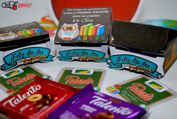 lembrancinha de chocolate Dia dos professores