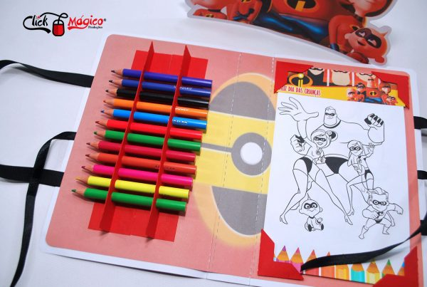 lembrancinha de colorir os incriveis
