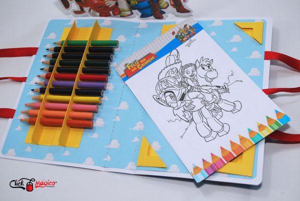 maletinha de colorir Dia das Crianças