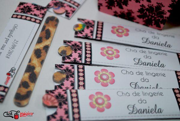 mini lixa arabesco e rosa chá de lingerie