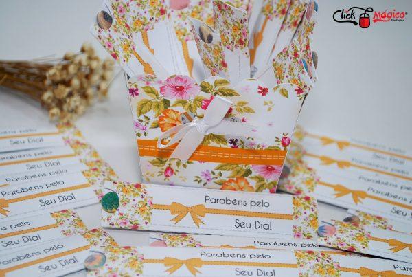 mini lixa floral laranja