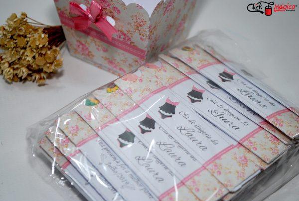 mini lixa personalizada chá de lingerie