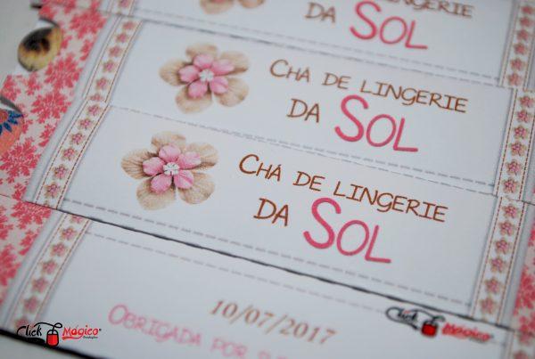 Chá de Lingerie branco e rosa
