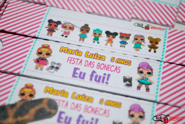 capinha para mini lixa LOL surprise