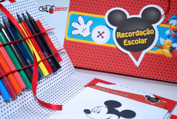 kit de colorir recordação escolar