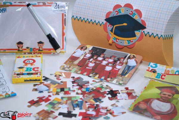 kit para recordação escolar