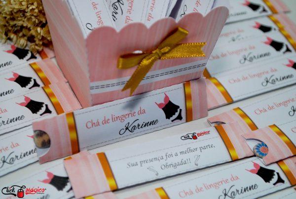 lembrancinha personalizada rosa e dourado
