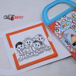 maletinha de colorir recordação escolar