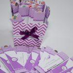 mini lixa presonalizadas lilas