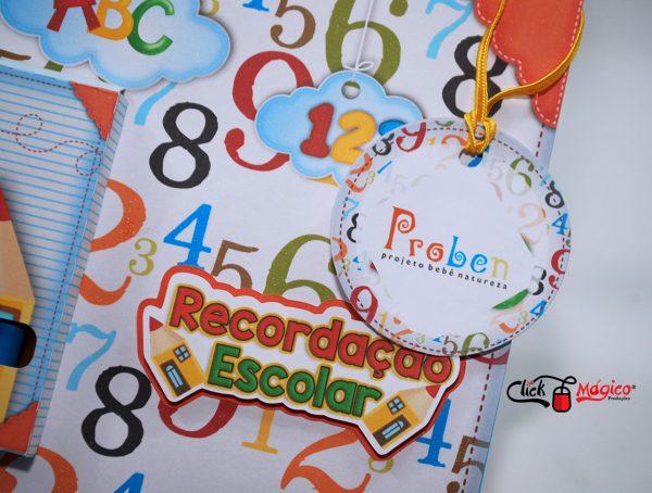 recordação escolar kit de colorir