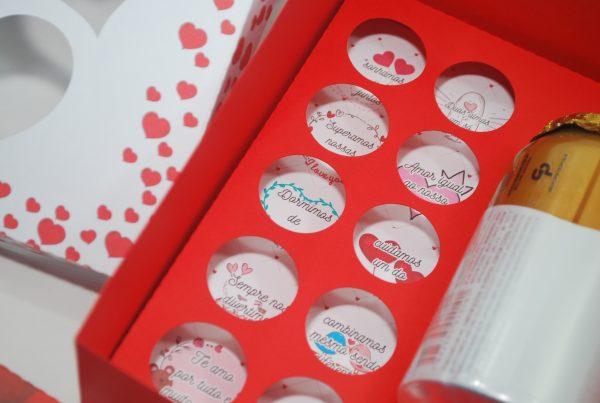 caixa para doces dia dos namorados