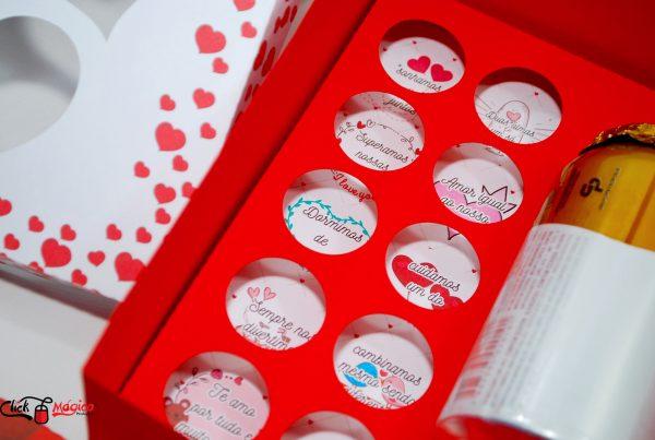 caixa para trufas dia dos namorados