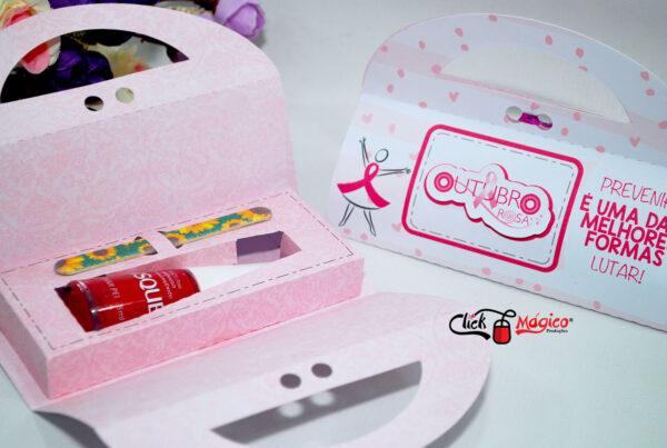 9 caixinha para esmalte e lixa Outubro Rosa