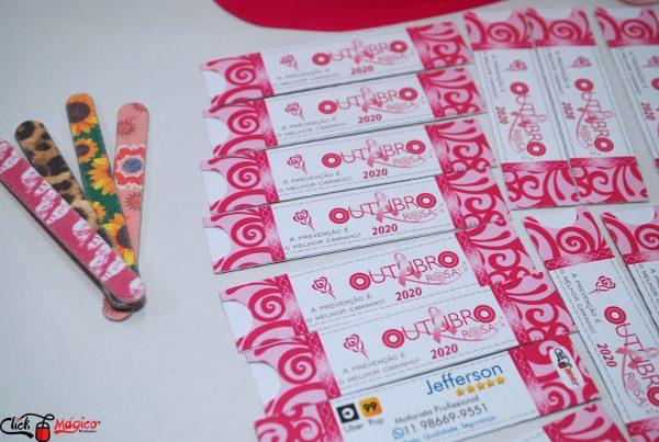 emvelope para lixa Outubro Rosa