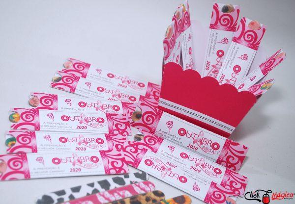 mini lixa personalizada Outubro Rosa