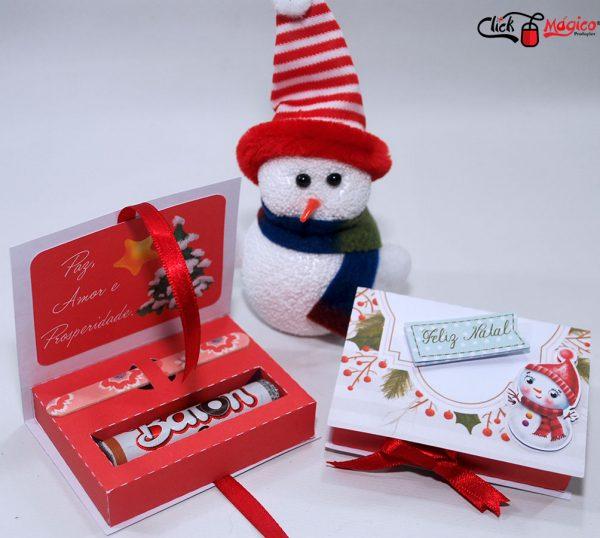 caixa para chocolate baton natal
