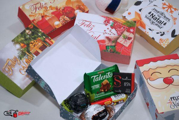 caixinha para doces natal
