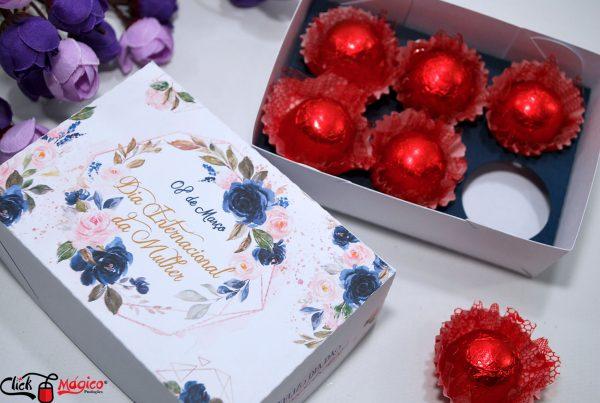 caixa para doces gourmet dia da mulher