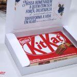 caixa para kit kat dia da mulher