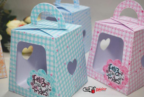 caixa para bolo de pote Dia das Mães